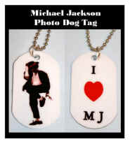 Michael Jackson DOG TAGS - Your choice of photo