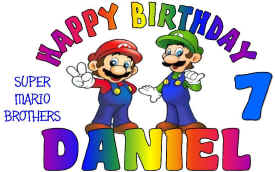 MARIO BROTHERS Happy Birthday Tee.jpg (69199 bytes)