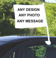 Car Flags - Any Design, Any Photo, Any Message