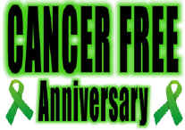 Cancer Free Anniversary Flag