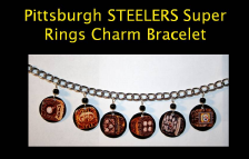 Pittsburgh Sttelers Super Bowl Rings - Charm Bracelet